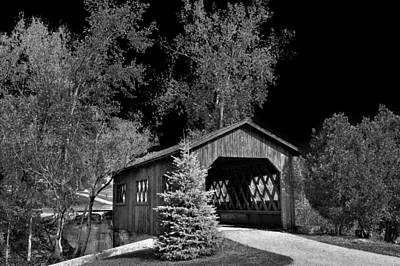 The Kiss Photograph - The Kissing Bridge - Covered Bridge In Ticonderoga New York by David Patterson