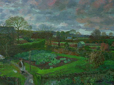Shed Painting - The Kitchen Garden In Autumn by Stephen Harris