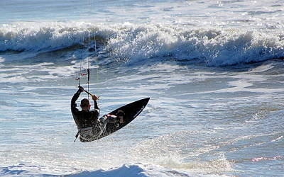 Photograph - The Kite Surfer by AJ  Schibig