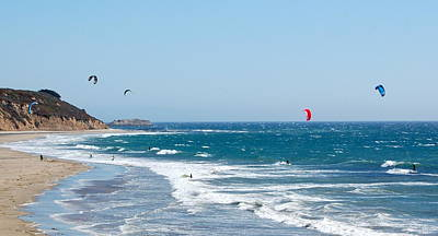 Photograph - The Kite Surfers by AJ  Schibig