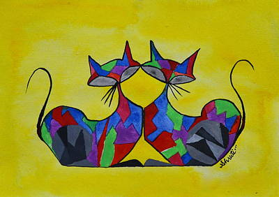 Painting - The Kitty Couple by Shruti Prasad