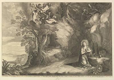 Czech Republic Drawing - The Kneeling Magdalen by After Pieter van Avont