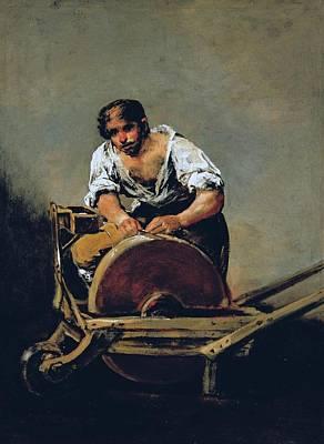 The Knife-grinder Print by Francisco Goya
