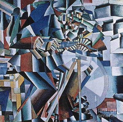 The Knife Grinder Art Print by Kazimir  Malevich
