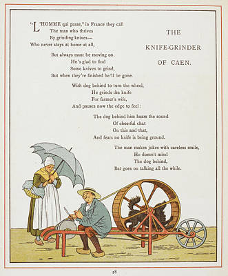 The Knife-grinder Of Caen Print by British Library