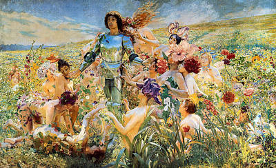 Shinning Digital Art - The Knight Of The Flowers  by Georges Antoine Rochegrosse