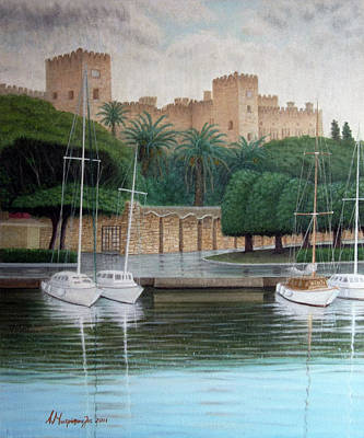 The Knights Castle Art Print by Anastassios Mitropoulos