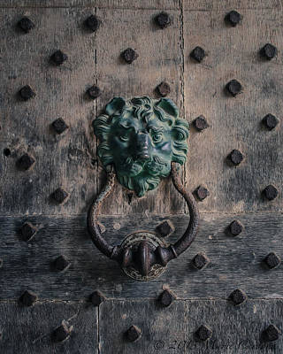 The Knocker At Leeds Castle Art Print by Marie  Cardona