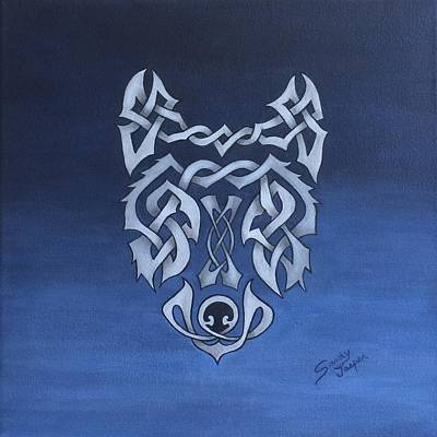 The Knotty Wolf Art Print by Sandy Jasper