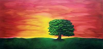 The Knowing Tree Art Print by Valorie Cross
