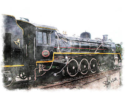 Painting - The Knysna Train by Stephen Mitchell