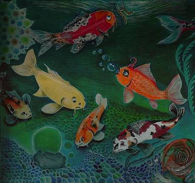 The Koi Life Art Print