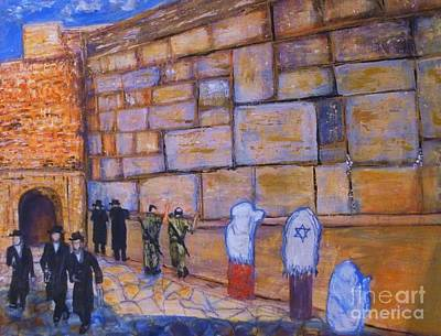 Painting - The Kotel by Donna Dixon