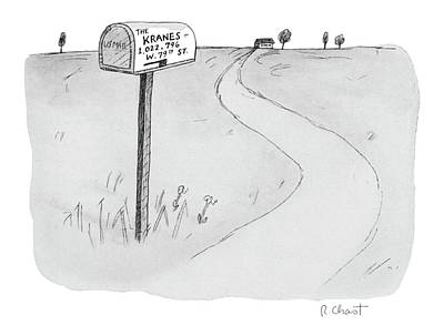 Midwest Drawing - 'the Kranes 1 by Roz Chast