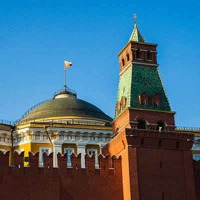 The Kremlin Senate Building - Square Art Print by Alexander Senin