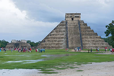 Photograph - The Kukulkan Pyramid In Chichen Itza Archeological Park Mexico by Marek Poplawski