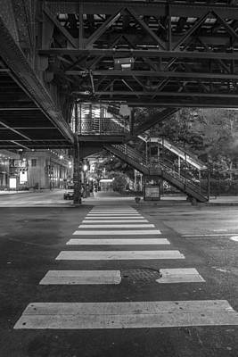 Crosswalk Photograph - The L And Crosswalk by John McGraw