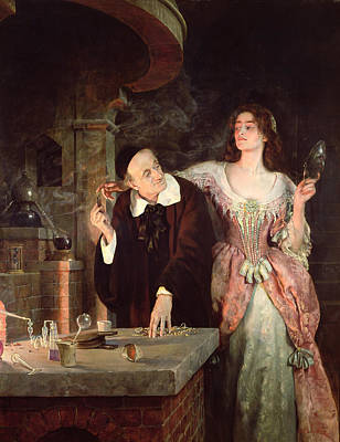 Potions Painting - The Laboratory, 1895 by John Collier
