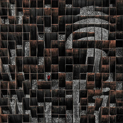 Steel Wall Art - Photograph - The Labyrinth by Gilbert Claes