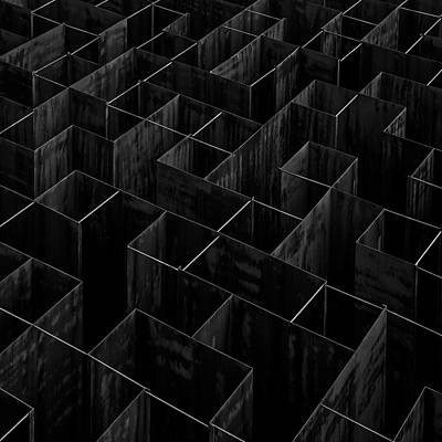 Modern Photograph - The Labyrinth II by Gilbert Claes