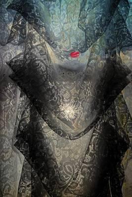The Lace Veil  Art Print