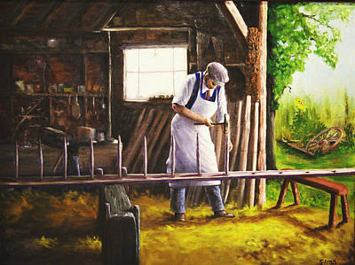 Painting - The Ladder Maker by Catherine Link