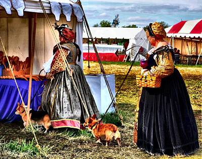 Renaissance Fairs Photograph - The Ladies And The Corgies by Julie Dant