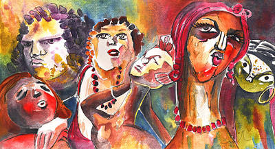 Bohemia Painting - The Ladies Of Loket In The Czech Republic by Miki De Goodaboom
