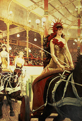 Girl Riding Horse Painting - The Ladies Of The Cars by James Jacques Joseph Tissot