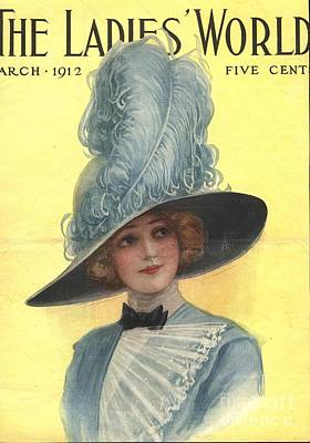 Nineteen-tens Drawing - The Ladies World 1910s Usa Hats Womens by The Advertising Archives