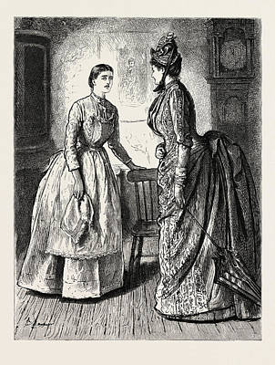 Cartoonist Drawing - The Lady, 1888 Engraving by Du Maurier, George L. (1834-97), English