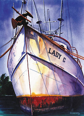 Shrimper Painting - The Lady C by Chuck Creasy