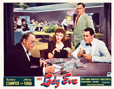 The Lady Eve, Us Lobbycard, Front Art Print by Everett