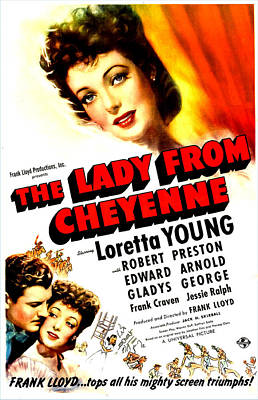 The Lady From Cheyenne, Us Poster Art Print by Everett