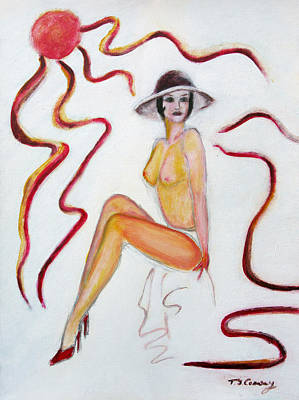 Painting - The Lady In Red High Heels by Tom Conway