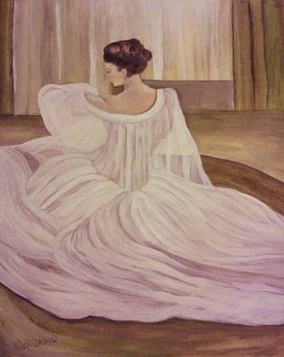 The Lady In White Art Print by Christy Saunders Church