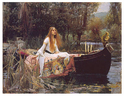 The Lady Of Shallot Art Print by John William Waterhouse
