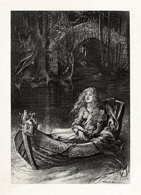 Lady Drawing - The Lady Of Shalott by Celestial Images