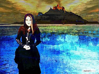 Artists Of Puerto Rico Painting - The Lady Of The Lake by Miguel Conesa Osuna