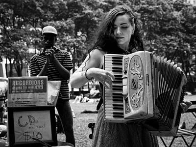 Photograph - The Lady With The Accordion by Cornelis Verwaal