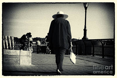 The Lady With The Hat New York City Art Print by Sabine Jacobs