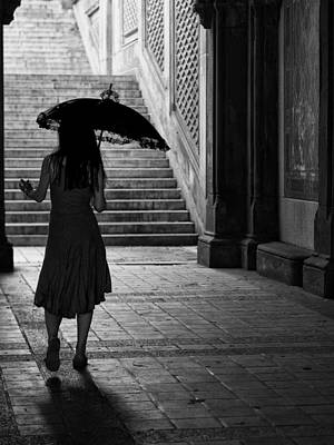 Photograph - The Lady With The Lace Umbrella by Cornelis Verwaal