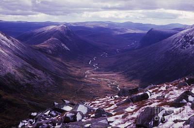 The Lairig Ghru - Cairngorm Mountains - Scotland Art Print
