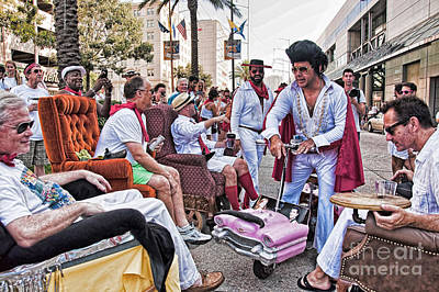 The Laissez Boys At Running Of The Bulls In New Orleans Art Print