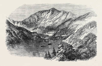 The Lake And Bazaar Of Nynee Tal Himalaya The Refuge Art Print by English School