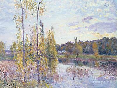 Quiet Places Painting - The Lake At Chevreuil by Alfred Sisley