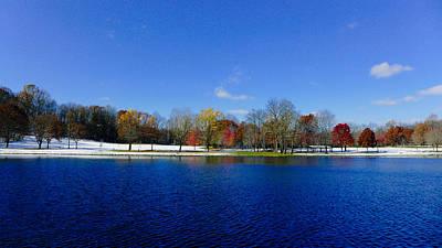 The Lake At Munroe Falls Park Art Print by Jeff Picoult