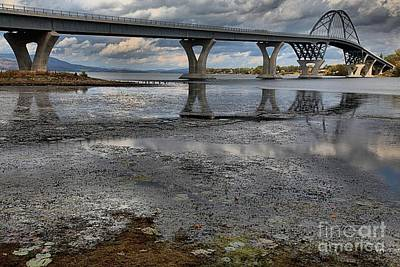 Photograph - The Lake Champlain Bridge From Cown Point by Adam Jewell