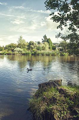 Overhang Photograph - The Lake by Amanda Elwell