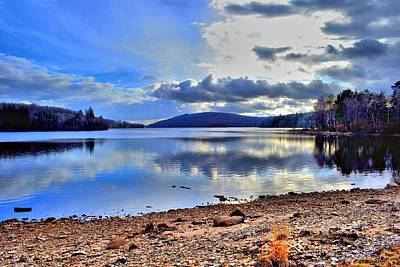 The Lake Art Print by Dave Woodbridge